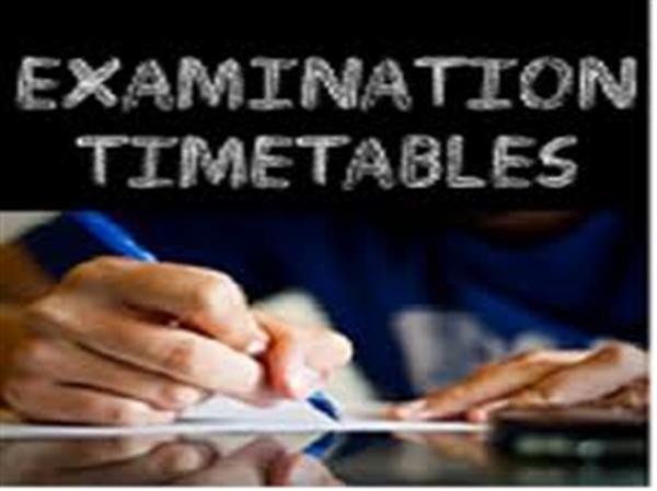 Summer Exam Timetables